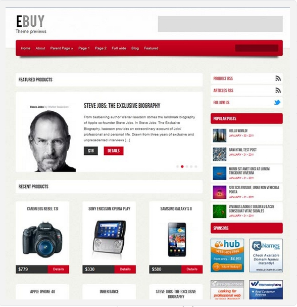 шаблон WordPress Ebuy