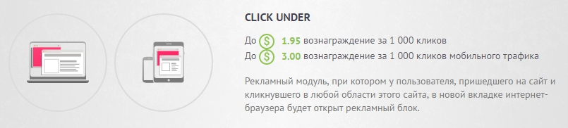 доход с кликандера