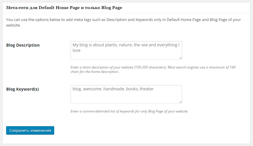 мета тег для блог
