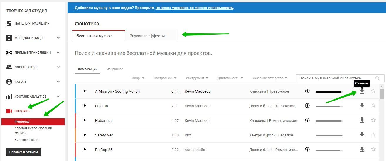 фонотека YouTube