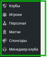 страницы админ панель