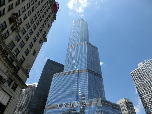 Дональд Трамп небоскрёб