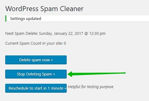 WordPress Spam Cleaner