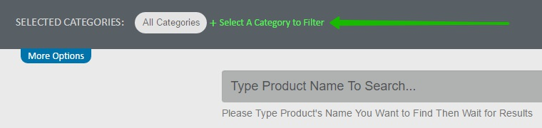 Select A Category to Filter