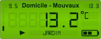 LCD-панель для отображения текущих температур