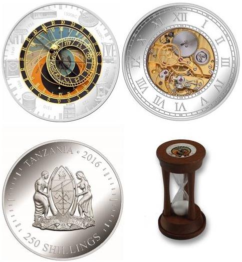 Набор монет Танзании «Песочные часы»