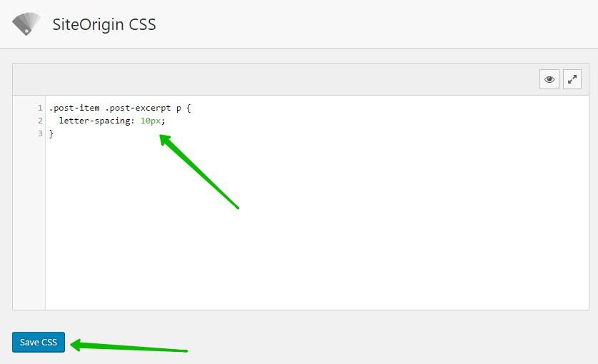 Letter Spacing изменить CSS WordPress