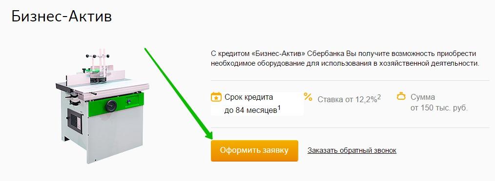 Сбербанк бизнес актив кредит