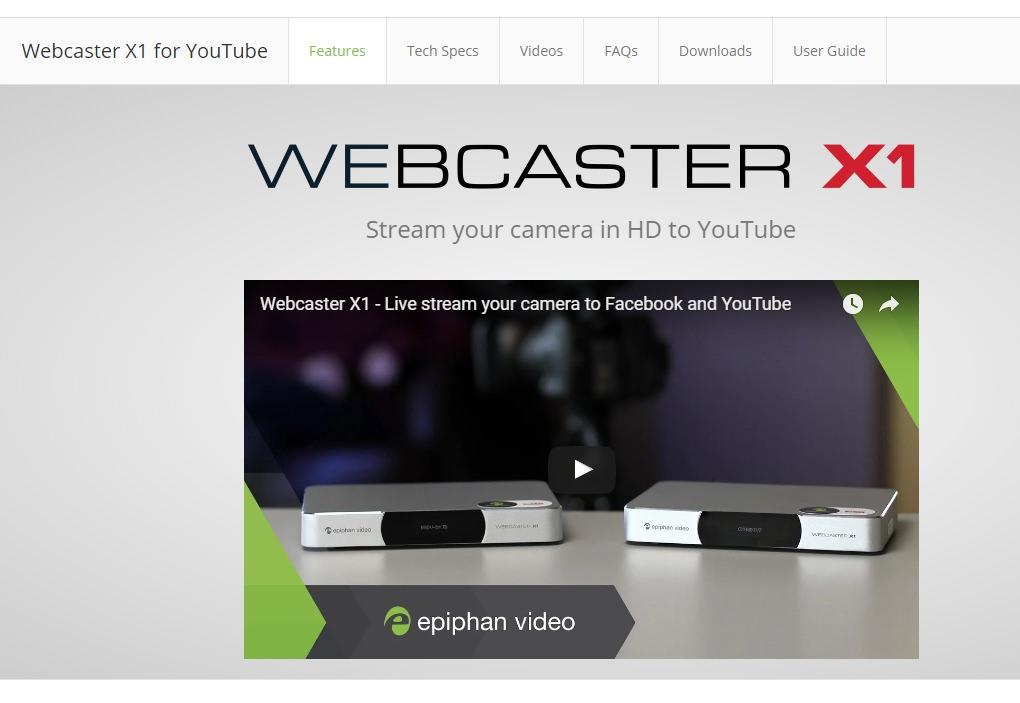 Видеокодер Epiphan Webcaster X1
