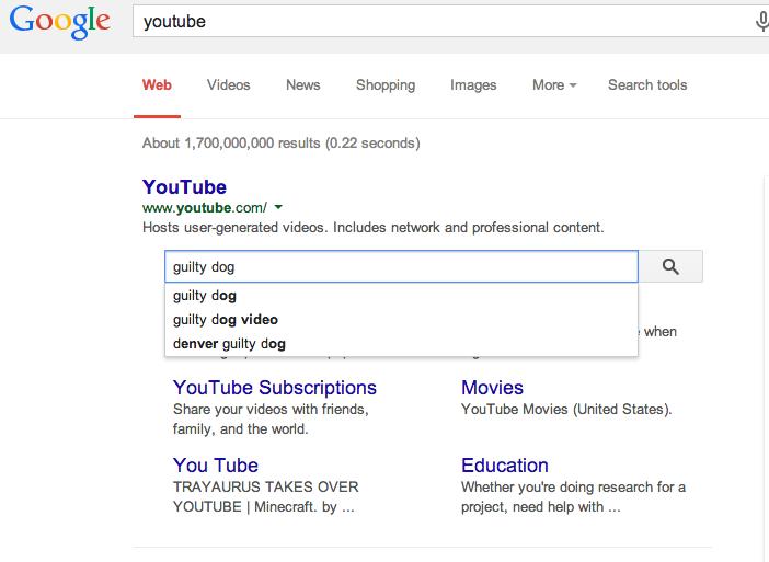 Google Sitelinks Search Box
