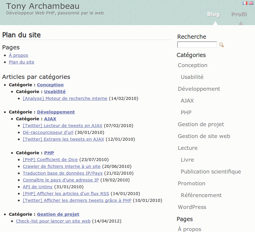 HTML карта сайта Супер плагин WordPress