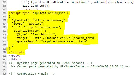 "Добавляет JSON-LD schema.org микроразметку для ""Google Sitelinks Search Box"""