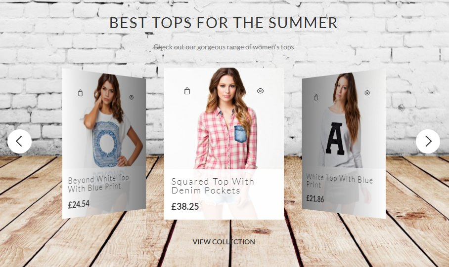Woocommerce Shop Slider