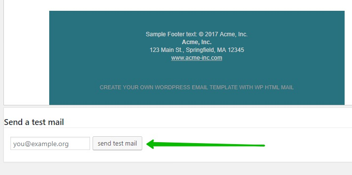 тест email письма wordpress