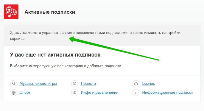 управление подписками МТС