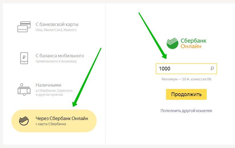 Сбербанк перевод на Яндекс деньги