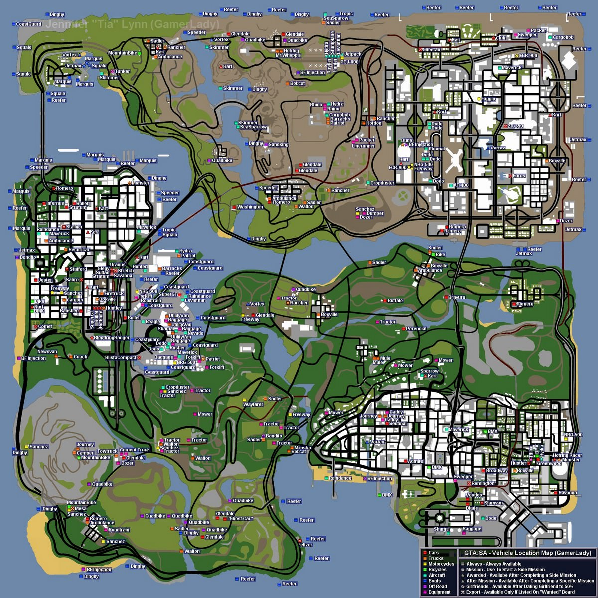 карта гта сан андреас фото