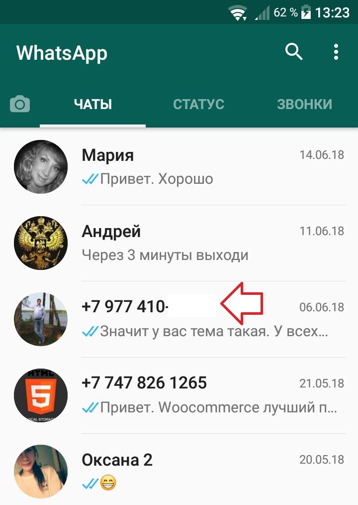 контакт ватсап