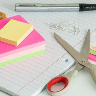 записки заметки ножницы
