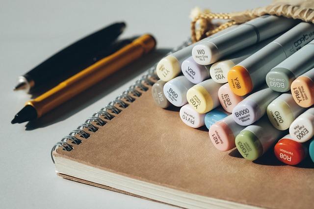 краски, маркер, фломастер