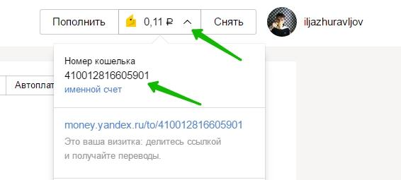 Яндекс деньги номер