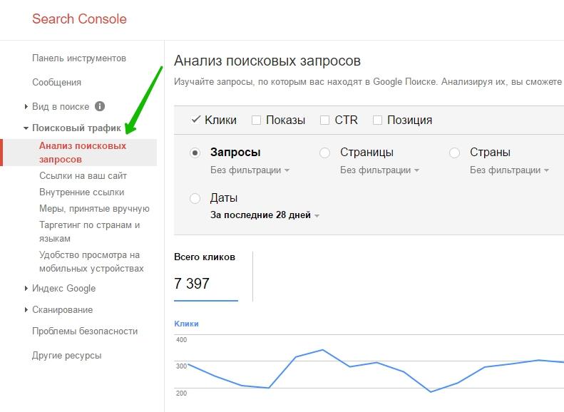 анализ поисковых запросов гугл