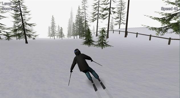 горные лыжи играть