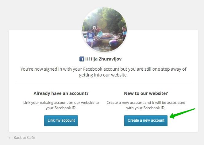 login social facebook