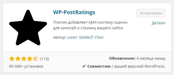 WP-PostRatings