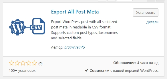 Export All Post Meta