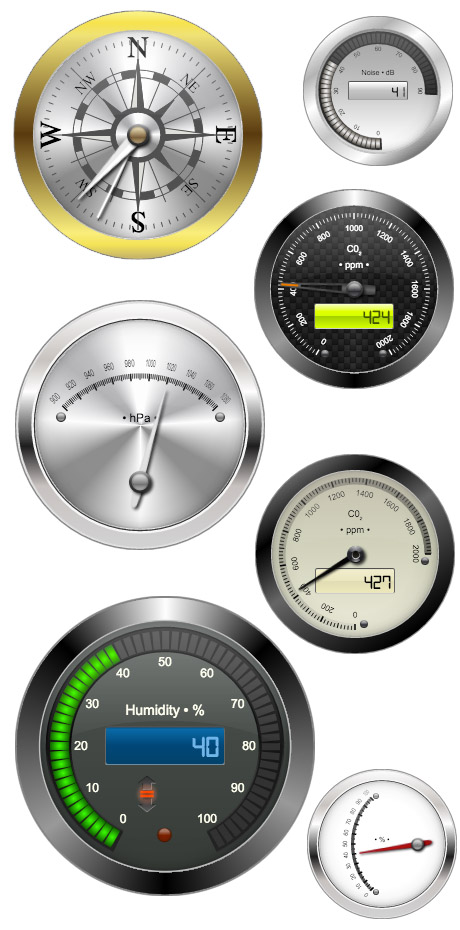 Некоторые виды стальных измерительных приборов