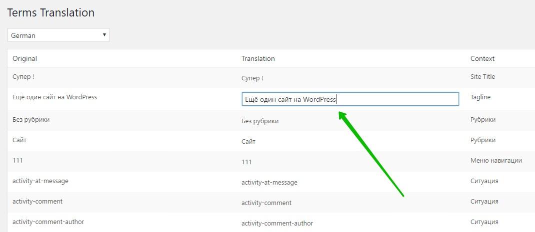 перевод сайт WordPress многоязычный