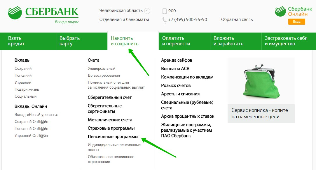 пенсия НПФ Сбербанка