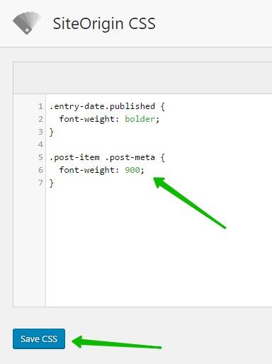 Font Weight CSS изменить сайт WordPress