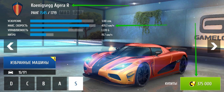 Лучшее авто в Асфальт 8 по соотношению цена + качество