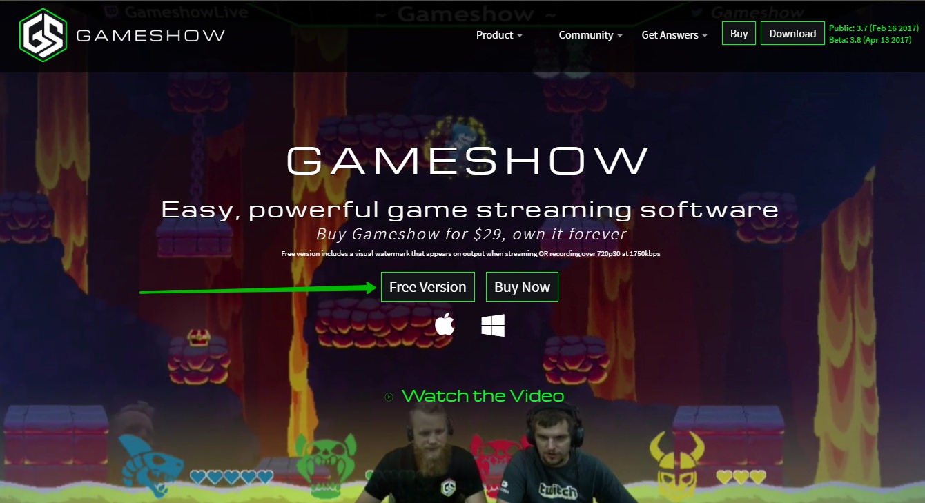 видеокодер Gameshow
