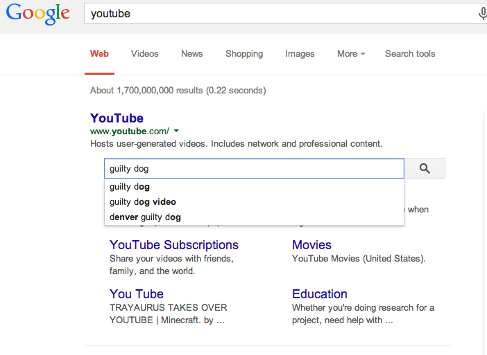 Google Sitelinks Search Box