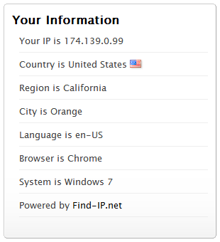 Виджет IP адрес
