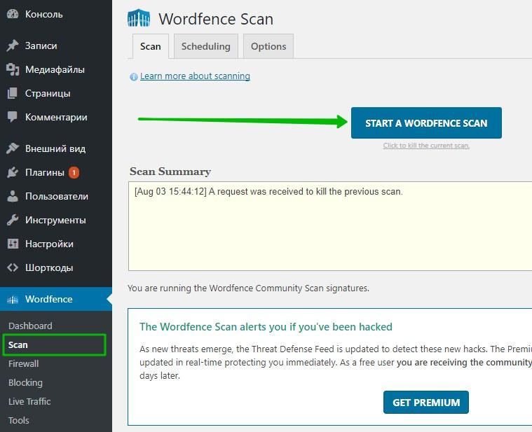 Scan Сканирование сайта