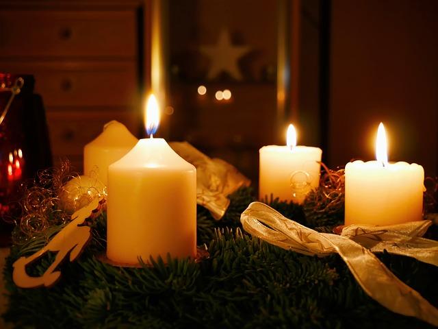 свечи новый год праздник