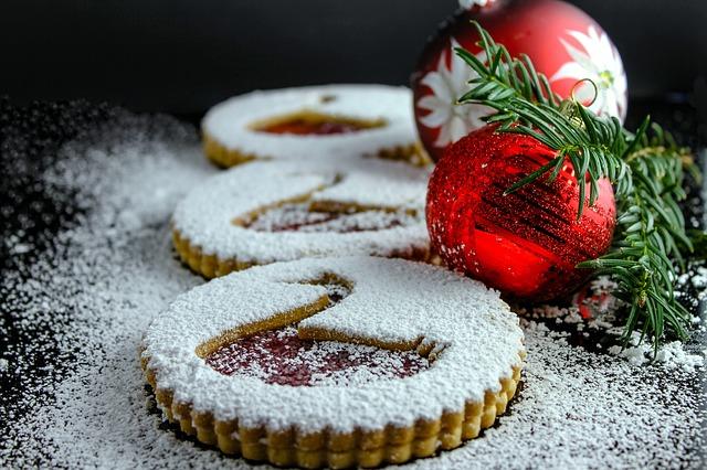 украшения печенье ёлка новый год