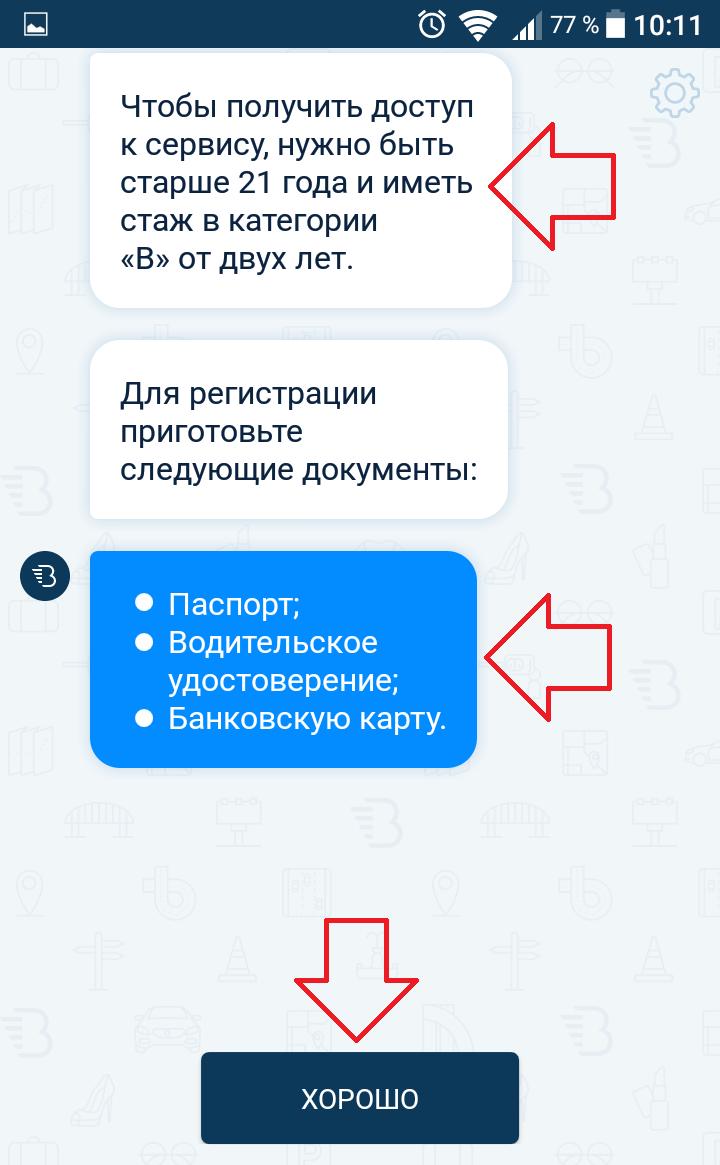 Московский каршеринг условия