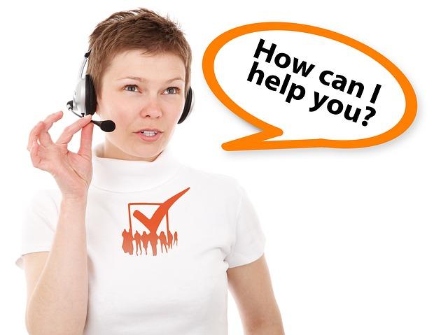 женщина служба поддержки помощь оператор коллцентра