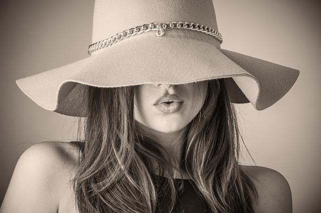 мода стиль шляпа лицо скрытое