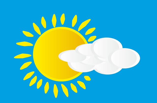 солнце облако погода