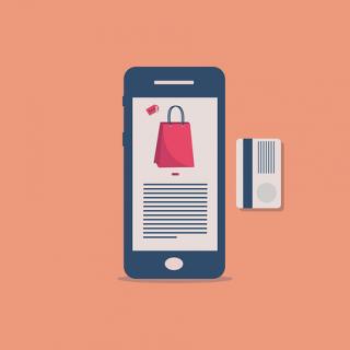 смартфон коммерция маркетинг объявление товар продать онлайн