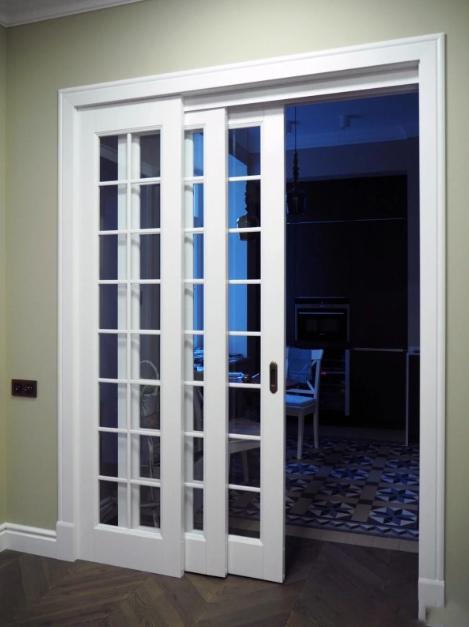 раздвижные тройные двери