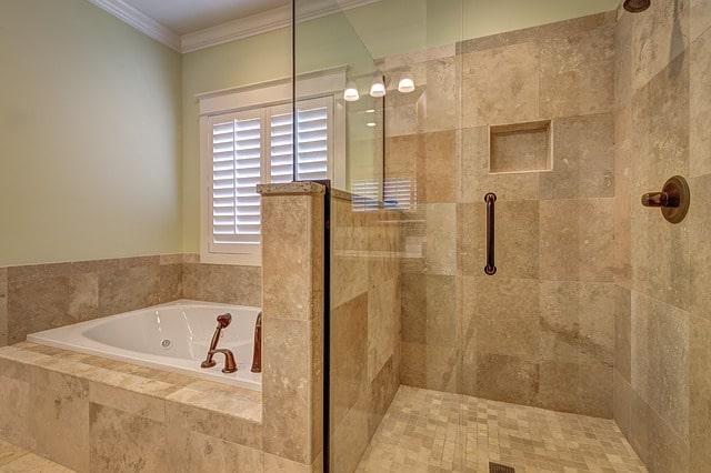 ванна душевая плитка интерьер