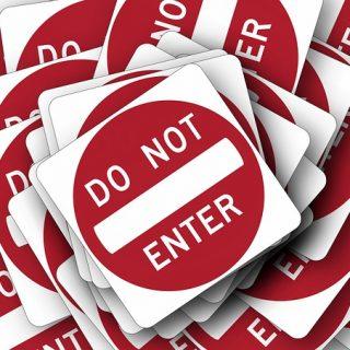 знак запрещено нельзя отправлять сообщения