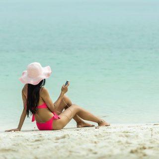 пляж бикини море отдых девушка